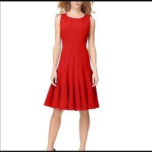 Calvin Klein Red Sleeveless Dress